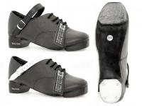 Fibreglass Tips. Tufnol Bubble Heel. Black or White Straps.